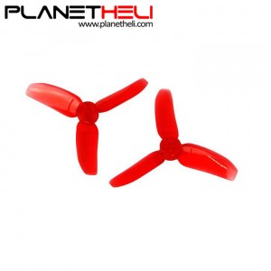 Kingkong 2840 2.8X4 CW CCW 3-blade Propeller 1.5mm Mounting Hole for FPV Quadcopter RC Racer Drones (2 pair) Red