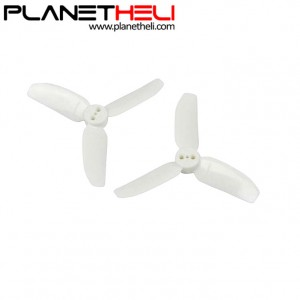 Kingkong 2840 2.8X4 CW CCW 3-blade Propeller 1.5mm Mounting Hole for FPV Quadcopter RC Racer Drones (2 pair) White