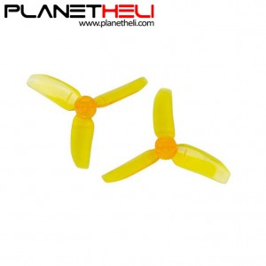 Kingkong 2840 2.8X4 CW CCW 3-blade Propeller 1.5mm Mounting Hole for FPV Quadcopter RC Racer Drones (2 pair) Yellow