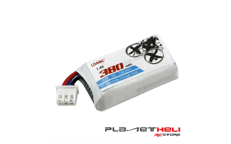 LDARC 7.4V 380mAh 50C Lipo Battery for TINY GT7 GT8 FPV 2S Tiny Whoop Racing Drone Lipo