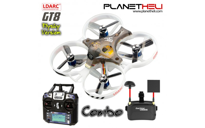 LDARC TINY GT8 8.76cm Micro Racing Drone Combo with FS-i6 and VR006 Goggle Ready to Fly