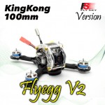 KINGKONG Flyegg 100 with Flysky rx-2A FPV Racer Mini Brushless Drone Quadcopter BNF Version