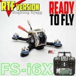 KINGKONG Flyegg 100 with Flysky rx-2A FPV Racer Mini Brushless Drone Quadcopter RTF Version with Flysky FS-i6X