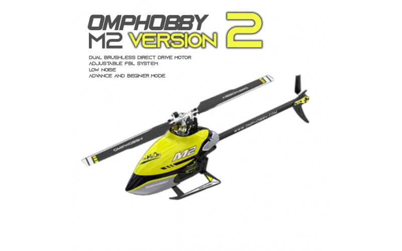 OMPHOBBY M2 V2 6CH 3D Flybarless Dual Brushless Motor Direct-Drive RC Helicopter BNF
