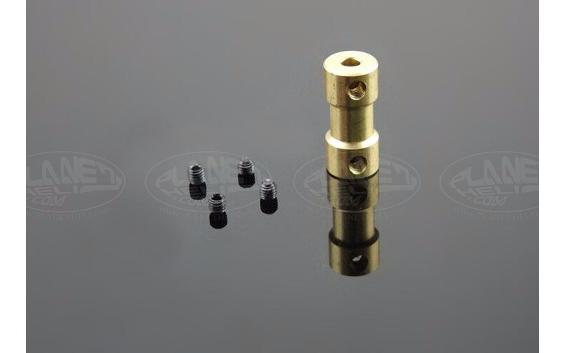 RC Boat copper coupling motor shaft diameter converter connector adpater 3.17mm to 2mm
