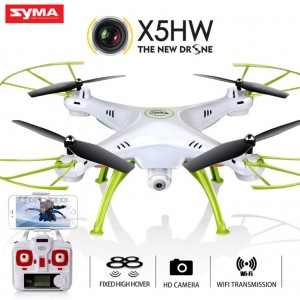 Syma X5HW WIFI FPV With HD Camera Altitude Mode 2.4G 4CH 6Axis RC Quadcopter RTF