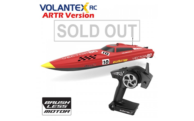 Volantexrc Vector80 V798-1 Brushless High Speed Racing RC Boat High Speed Racing 70km/h ARTR set