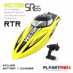 Volantex Vector SR65 65cm 55km/h Brushless High Speed ​​RC Boat - Yellow (ARTR)