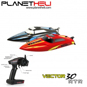 Volantex RC Boat Vector30 795-3 2.4GHz 4 Channel 30km/h Racing Remote Control (RTR)