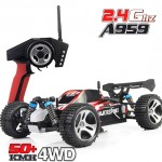 Wltoys A959 Rc Car 1/18 2.4Gh 4WD Off-Road Buggy RTR
