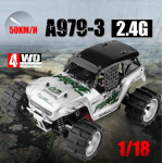 High quality WLtoys A979-3 2.4G 1:18 Scale 4WD Electric RTR Truck RC Car