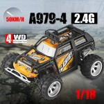 WLtoys A979-4 2.4G 1:18 Scale 4WD 50KM/h High Speed Electric RTR Desert Truck RC Car