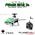 WLtoys V930 Power Star X2 4CH 6-Axis Gyro Brushless Flybarless RC Helicopter 2.4gHz Remote Control RTF