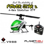 WLtoys V988 Power Star 2 4CH 6-Axis Gyro Flybarless Helicopter 2.4gHz Remote Control RTF