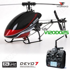 Walkera Dragonfly New V120D02S 6CH Flybarless RC Helicopter RTF 2.4GHz w/ Devo 7 TX, 6 -Axis Gyro Stayblizing Sys.