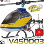 Walkera Dragonfly V450D03 6CH Flybarless CCPM RC Helicopter BNF 2.4GHz Without Transmitter