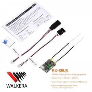 Walkera RX-SBUSe 2.4G 12CH Receiver SBUS PPM Output Without Case For Devo 7 F7 10 12E Transmitter