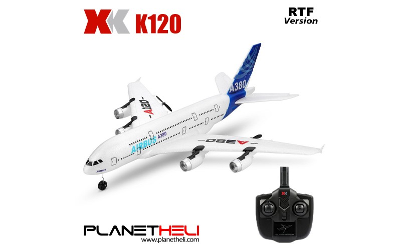 XK A120 Airbus A380 Model Plane 3CH EPP 2.4G Remote Control Airplane Fixed-wing RTF