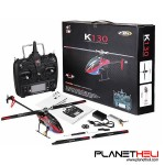 XK K130 2.4G 6CH Brushless 3D 6G System Flybarless RC Helicopter RTF Compatible For FUTABA S-FHSS