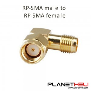 RP SMA Male Jack To RP SMA Female Jack Screw Thread Connector 90 Degrees Right Angle