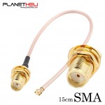 Pigtail Cable SMA female adapter to U.FL IPX connectors RG178 15cm