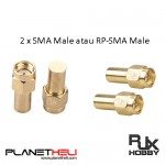 RJXHOBBY 2PCS Electronics RF coaxial connector adapter SMA male coaxial Termination Loads 1W DC- 3.0GHz 50Ω