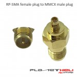 RP-SMA female plug to MMCX male plug RF coaxial adapter connector