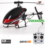 Walkera Dragonfly New V120D02S 6CH Flybarless RC Helicopter RTF 2.4GHz w/ Devo 10 White TX, 6 -Axis Gyro Stayblizing Sys.