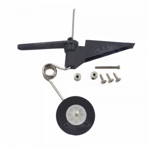 RC Airplane Tail Wheel Assembly 60x25mm D28 /30 Parts Aeromodelling