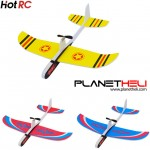 Hotrc Hand Throwing Airplane Free-flying Fix Wing Foam Capacitor Electric Glider DIY Plane Model Educational Toy