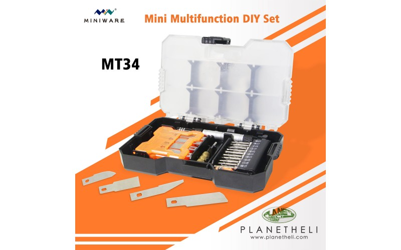 MINI MT34 34 in 1 Multifunction DIY Repair Screwdriver Tool Set Hand Drilling Knives Glue for Phone PC Tablet