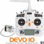 Walkera Devention DEVO 10 White Version (Full Range) 2.4GHz 10ch Telemetry RC Transmitter with RX1002  Mode 2