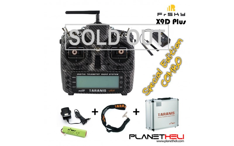 FrSky 2.4GHz ACCST TARANIS X9D PLUS SPECIAL EDITION and X8R Combo with Alu Case (Mode 2)