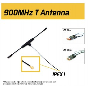 Original FrSky Antenna 900MHz IPEX1 IPEX4 Connector for R9M / R9M LITE / R9 MINI / R9 SLIM / Slim+ / R9MM receiver
