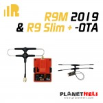 FrSky R9M 2019 Module and R9 Slim+ OTA Receiver with mounted Super 8 and T antenna