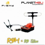 Frsky R9M 900MHz Transmitter Module+R9 Slim+ 6/16CH Receiver With Mounted Super 8 & Ipex1 T Antenna