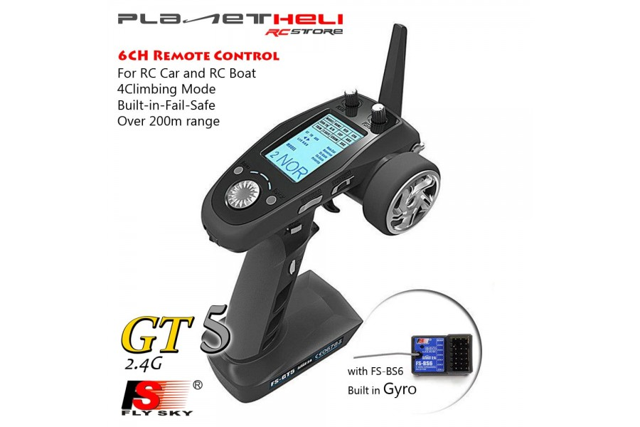 Flysky FS-GT5 2 4G 6CH Transmitter with FS-BS6 6CH Receiver