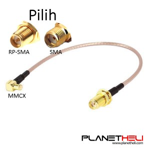 MMCX to SMA / RP-SMA Antenna Pigtail Cable 10cm for RC Drone FPV Racing