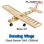 Dancing Wings - T25 1.3M Cloud Dancer Premium Balsa Wood Remote Control Airplane Kit